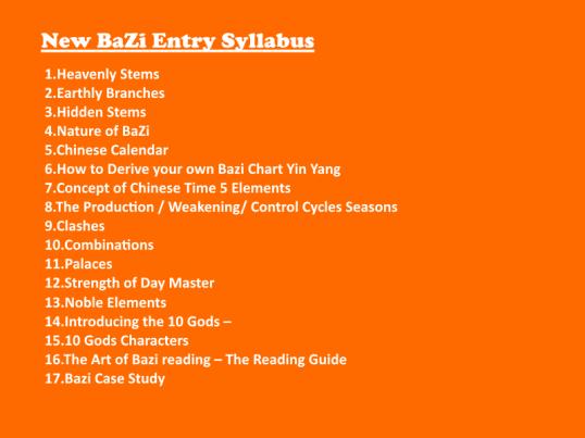 BaZi Course Syllabus